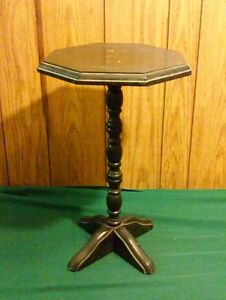 Vtg Antique Primitive Hand Made Unique 23 Tall Side End Plant Stand Table