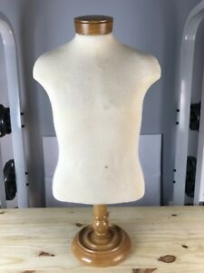 Counter Top Cloth Pinnabletorso Male Mannequin W Adjustable Base