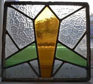 Art Deco Leaded Light Stained Glass Window Panel R139 Worldwide Delivery