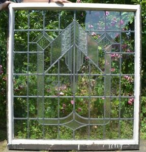 Art Deco Leaded Light Stained Glass Window Panel R563a Insured Shipping Option