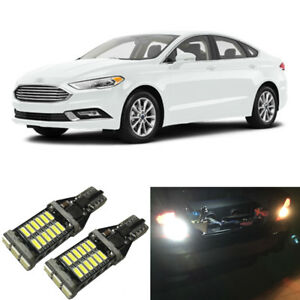 White Led 921 W16w Backup Reverse Light Bulbs For 2006 2018 Ford Fusion