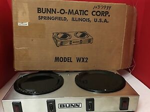 Vintage Bun o matic Side By Side double Coffee Warmer Wx2 Stainless Steel Exc