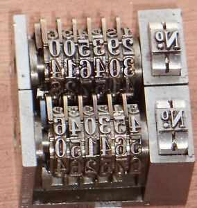 Letterpress Numbering Machine key Lot Of 4