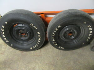 2 Bias Ply Dunlop Gt Qualifiers Mounted On 14x5 Wheels