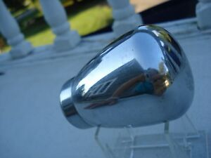Vintage Chrome Shifter Knob Threaded Complete With Set Screws