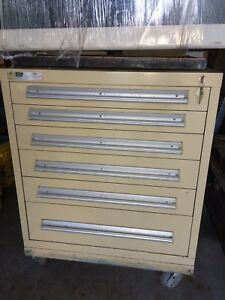 Stanley Vidmar 6 Drawer Industrial Storage Cabinet 38 5 High Local Pick up