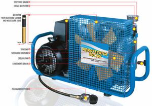 Scuba Or Paintball Compressor With Automatic Drains