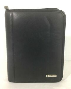 Franklin Covey Compact Binder Planner 1 25 6 Ring Black Faux Leather Zip