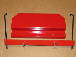 Ih International 284 Diesel Tractor Battery Box Lid Hold down And J bolt Kit 1