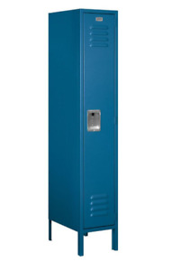 Industrial Metal Storage Locker Cabinet Blue For School Gym Employee Steel