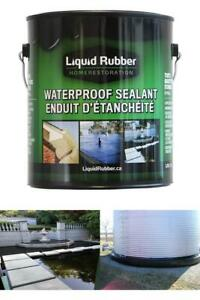 Liquid Rubber Waterproof Sealant Coating 1 Gallon Original Black Easy Apply