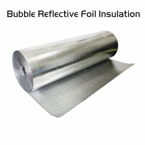 Double Foil Bubble Insulation Home Wall Floor In Attic Waterproof Guard