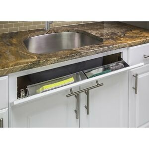 Set Of 2 14 Stainless Steel Kitchen Cabinet Sink Tip Tilt Out Tray Hinges