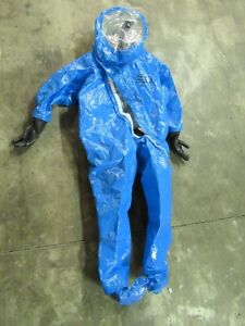 Dupont Personal Protection Hazmat Suit Tychem Chemical Coverall Hood Protect Xl