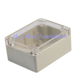 5pcs 115 90 55 Waterproof Clear Cover Plastic Electronic Project Box Enclosure