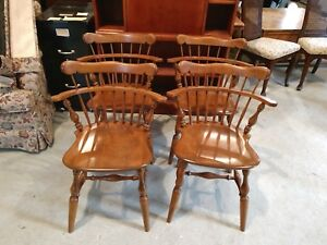 Vintage Ethan Allen Chairs Early American Set Of 4