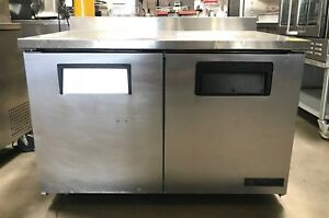 48 True Twt 48 2 Two Door Worktop Refrigerator Under Counter Back Splash Clean