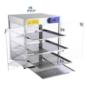 New 20 Commercial Pizza Hot Food Display Case Pastry 3 Shelf Warmer Model H31