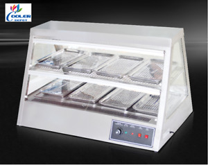 New 48 Dry Warmer Display Case Food Snack Pizza Pastry Model H8 Stainless Steel