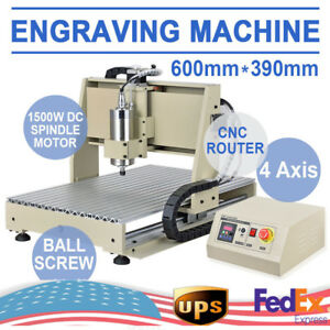 1500w 3d 4 Axis Engraver Usb Cnc6040 Router Engraving Drilling Milling Machine