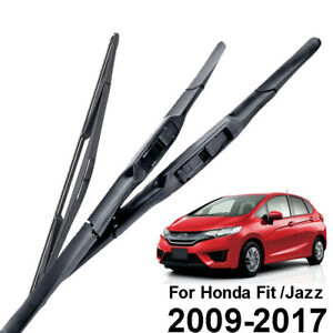 Front Rear Wiper Blades For Honda Fit Jazz 2009 2010 2011 2012 2013 2014 2015 16
