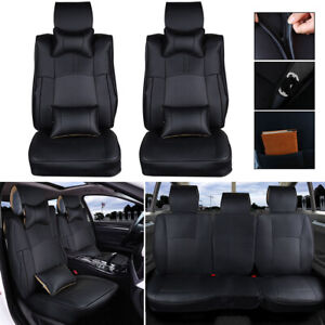 Black Car Seat Cover For Dodge Ram 1500 2500 3500 2013 2017 Pu Leather Cushion