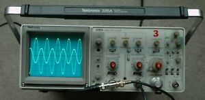 Tektronix 2215a 60mhz Oscilloscope Calibrated Tested Two Probes Power Cord