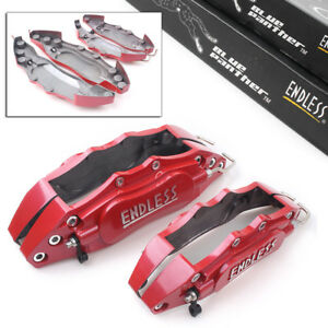 Auto 3d Metal Brake Caliper Covers Universal Front Rear 2 Medium 2 Small Red