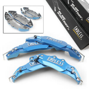 3d Metal Brake Caliper Covers Universal Front Rear 2 Medium 2 Small Blue Auto
