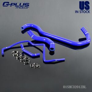 4 Pcs Silicone Water Radiator Hose Kit For Hummer H2 2003 2006 05 04 Blue
