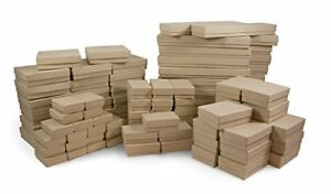 The Display Guys Pack Of 100 Cotton Filled Cardboard Paper Kraft Jewelry Box