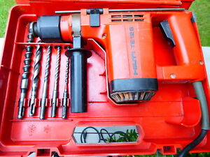 Hilti Te12s Hammer Drill In Case With Bits Used Te 12s