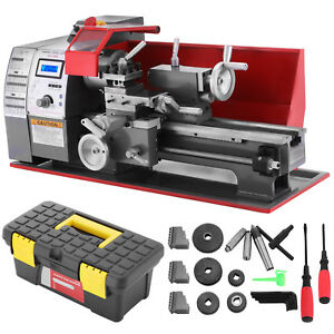 Brushless Motor Mini Metal Lathe Woodworking Tool Milling Bench Top Machine