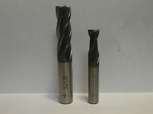 2 Pc Cleveland 1 2 3 8 Hs Ticn Coated Center Cutter End Mills
