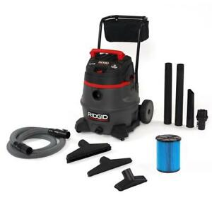 Ridgid Wet Dry Vacuum Cleaner 14 Gal 2 stage Commercial Quiet Operation New