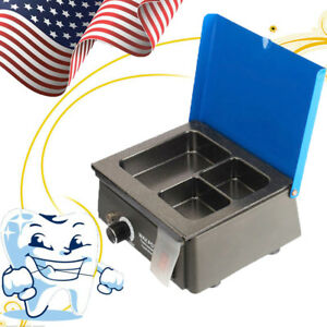 Dental 3 Well Analog Wax Heater Melting Dipping Pot Melter Oral Care Machineoral