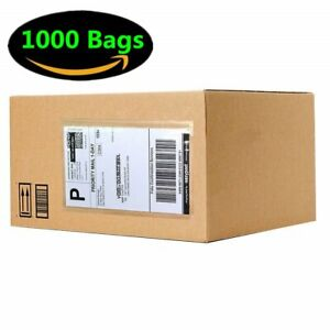 1000 6 X 9 Clear Packing List Shipping Label Envelopes Adhesive Top Loading