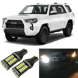 White Led 921 W16w Backup Reverse Light Bulbs For 2001 2018 Toyota 4runner