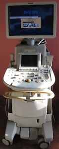 Philips Iu22 D Cart Ultrasound System With 5 Transducers Options Back Up Disk