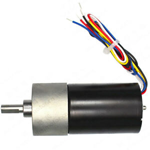 Gm37 bl3650 Dc12 24v Brushless Gear Motor With Speed Signal Output Reversible