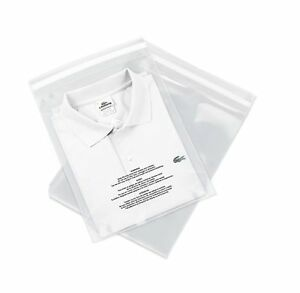 100 Count 12 X 15 Self Seal 1 5 Mil Clear Plastic Poly Bags With Suffocatio