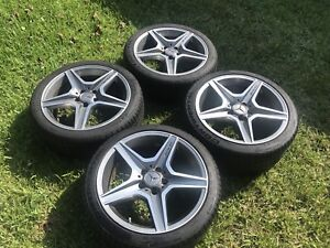 2009 15 Mercedes Benz C63 Amg 18 Genuine Factory Oem Wheels Rims Tires Tpms