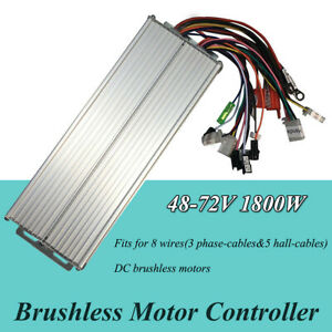 Dc 48 72v 1800w Brushless Motor Controller For E bike Scooter Electric Bicycle