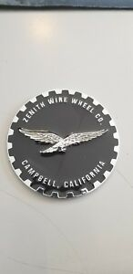 Zenith Wire Wheel 2 25 Metal Chip Heavy Emblem Black Chrome Eagle Lowrider