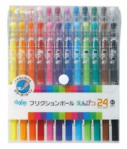 24 Frixion Erasable Colour Pens 0 7 frixion Ball Ballpoint Pens Pilot Japan