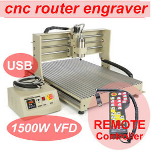 4axis Usb 6090 1 5kw Cnc Router Engraving Milling Drilling Machine Engraver Rc