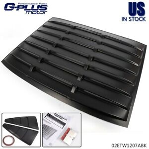 Rear Back Window Louver 1 4 Side Window Louver For 2005 2014 Ford Mustang Gt