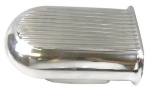 Hilborn Mini Aluminum Hood Scoop Air Cleaner Filter Polished 5 Fin Single Carb