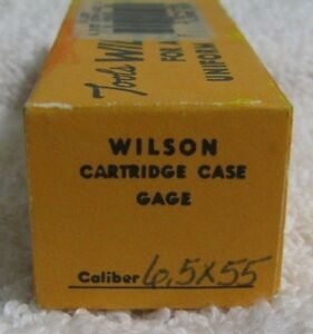 LE Wilson Cartridge Case Gage 6.5 x 55 Norma  Swed