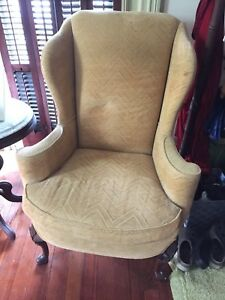 Vintage Winged Back Chair John Wanamaker Sherrill Chippendale Style
